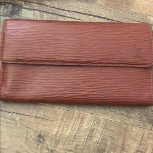 Authentic Louis Vuitton Epi Sarah Long Wallet